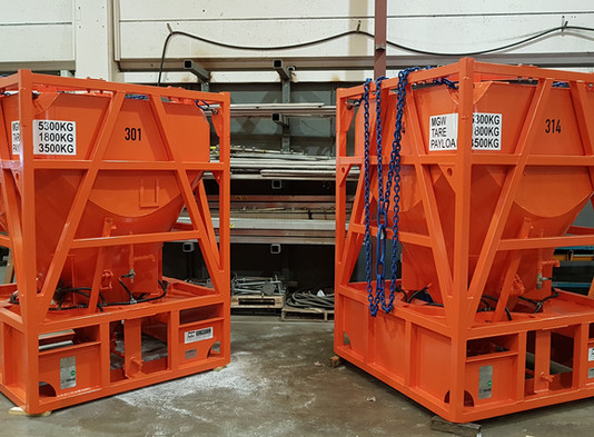 5 stykk tankrammer produsert og sammenstilt hos Kongshavn.