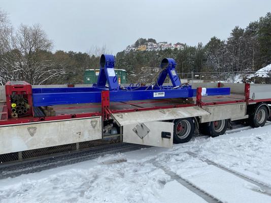 «Løfteramme levert til RDS for frakt av mudpumpe veivaksel».