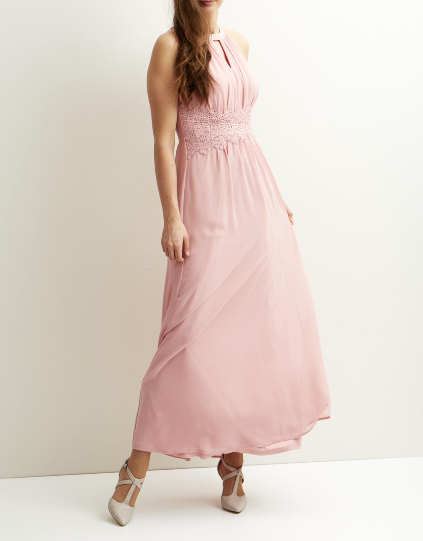 VIMILINA Halterneck maxi dress