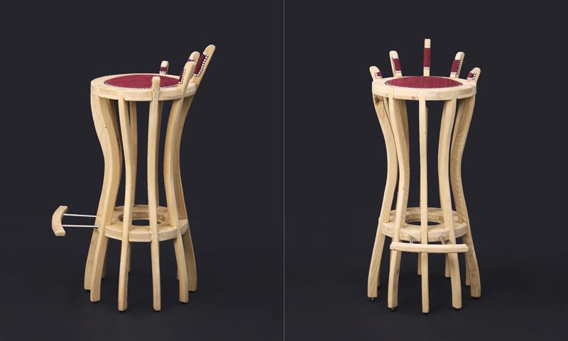 כסא בר בעיצוב ישראל ביתן