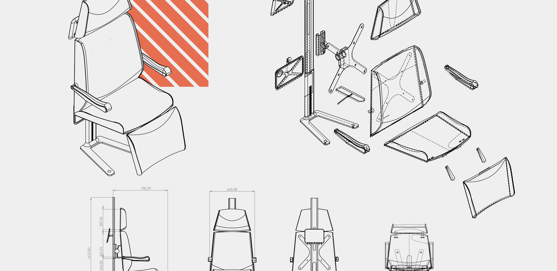 הגשה כסא מטוס דניאל שוקרון-3עיצוב תעשיית