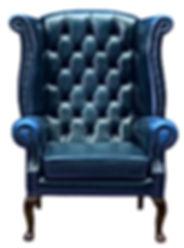 Classic Chesterfield luxury blue armchai