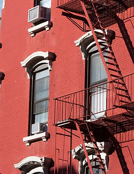 Brick Buildig with fire escapes