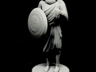 Фотополимерная SLA 3d печать персонажа