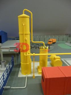 макет индустриальной территории