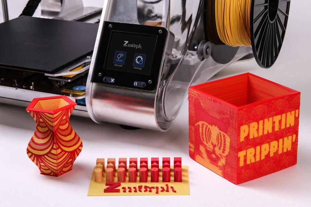 Zmorph 2.0SX 3D печать текстур