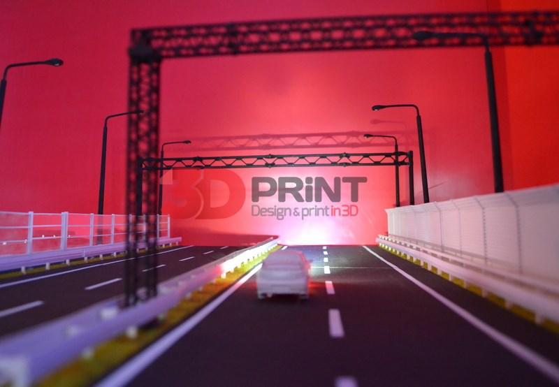 Макет рекламных дорожных конструкций