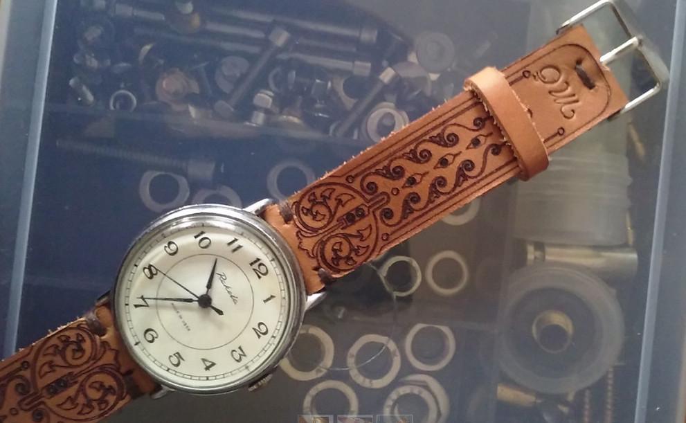 Лазерная гравировка ремешка часов