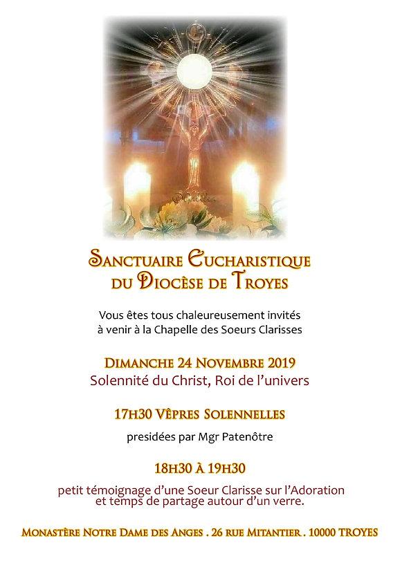 annonce Sanctuaire Eucharistique 24.11.1