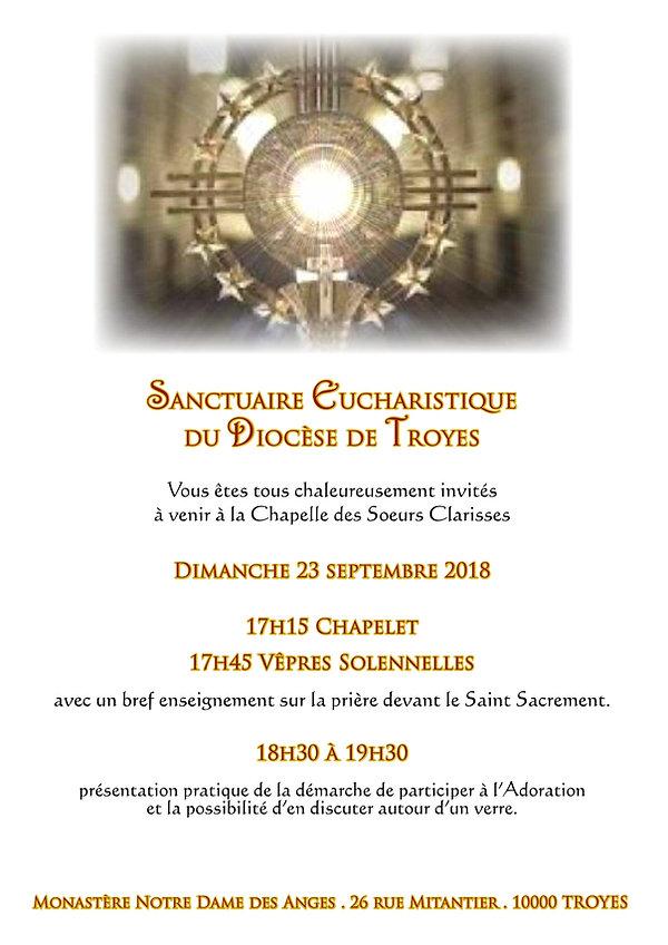 Faire-part Sanctuaire Eucharistique Sept