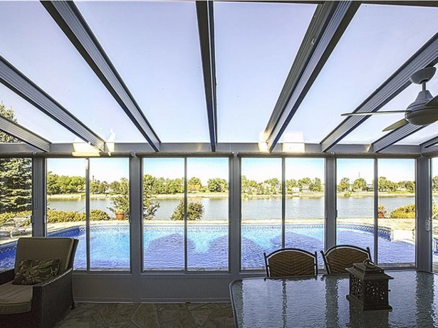 3-season solarium with glass roof