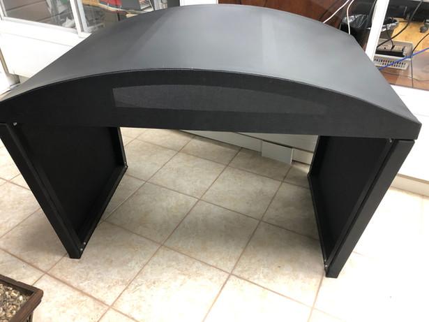 Demo Black heat pump shelter