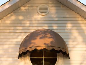 Auvent de fenêtre corbeille