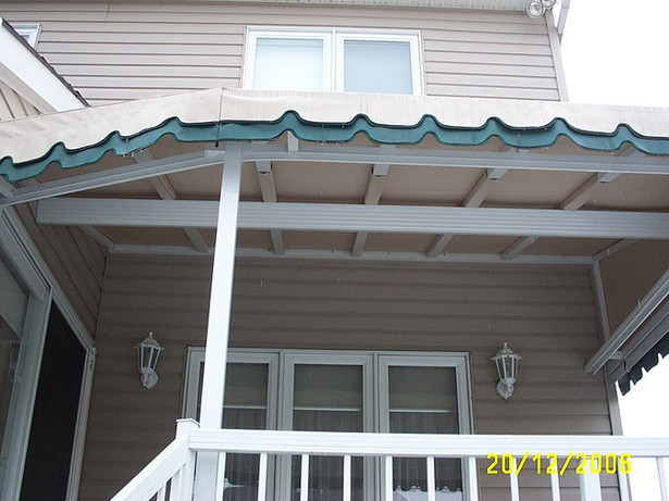 Permanent stationary awning