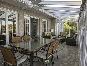 Solarium 3 saisons avec toit en verre