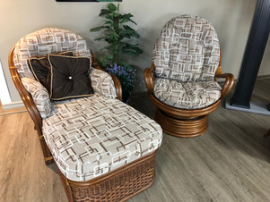 Démo Ensemble fauteuil long et fauteuil pivotant