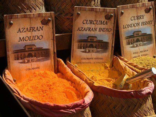 saffron, curcuma, curry