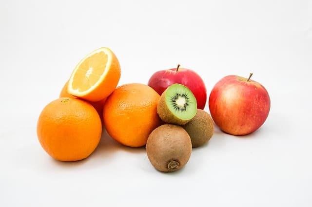 apples, kiwi, oranges