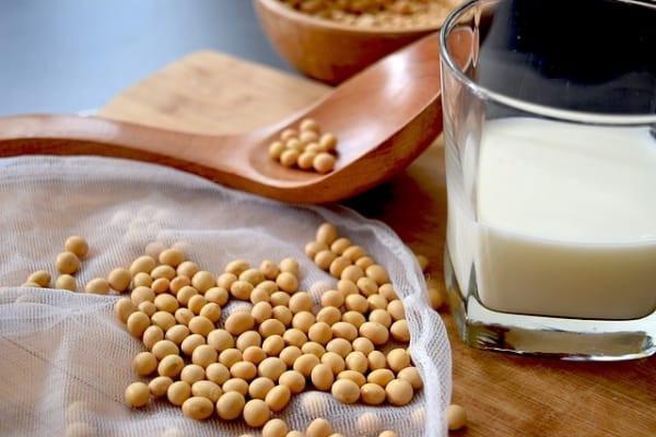 Le lait de soja stimule la santé des os