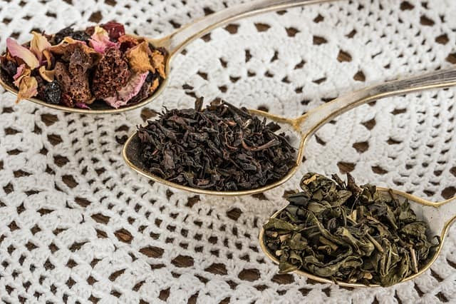 tea leaf, black tea, green tea