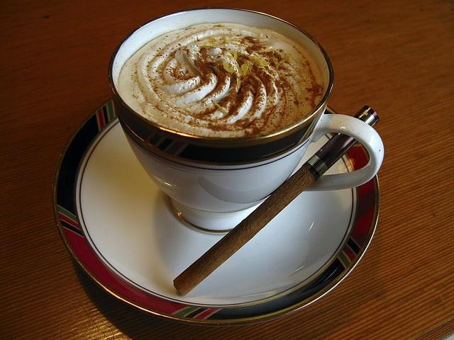cappuccino, cinnamon, cup