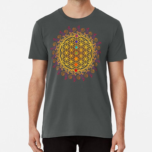 FLOWER OF LIFE, CHAKRAS T Shirt Flower of Life Awareness Ayurveda