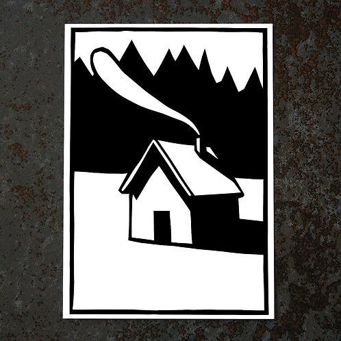 Carte A6 - Cabane minimale