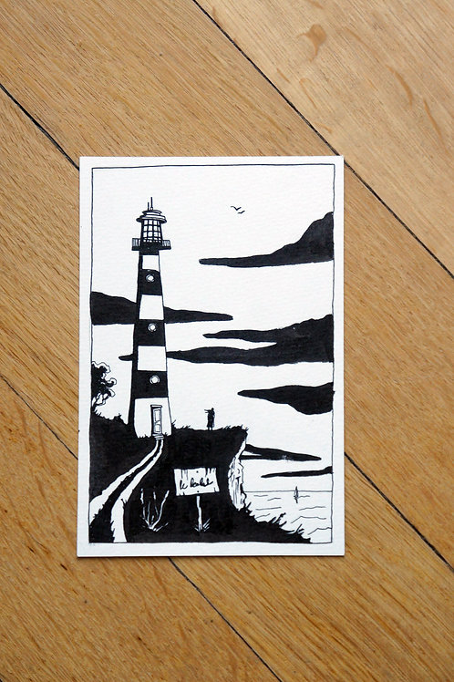 Phare - Dessin original