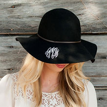 monogram wool floppy hat