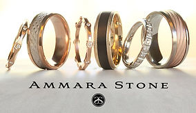 Ammara Stone wedding bands