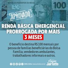 Prorrogação de renda básica emergencial é aprovada em São Paulo.