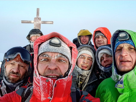 Пик Черского. Зима 2018