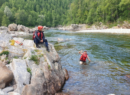 Лангатуйский порог 4-5 июля - малая вода и немало удовольствия