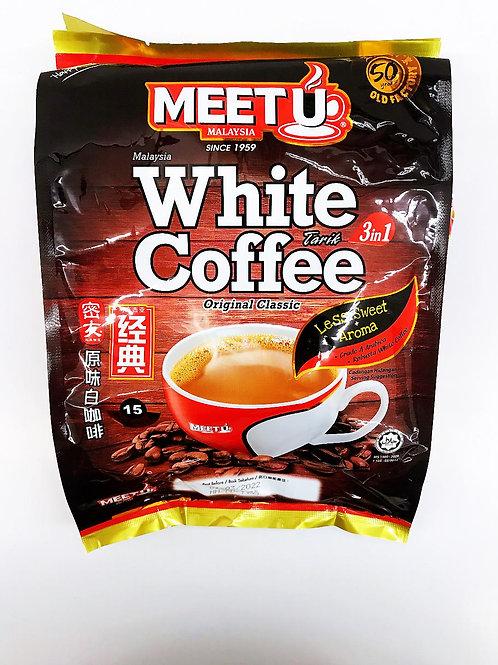 MEET U White Coffee Original Classic 3 in 1  ( 600g), 6 bags/batch
