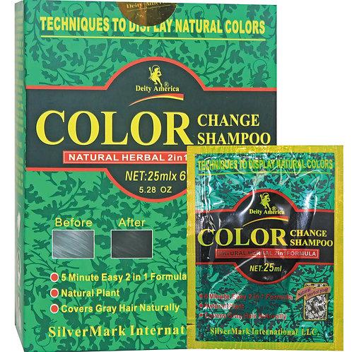 D/A Color Change Shampoo  5.28 oz ( Black ) 髮神一洗黑洗髮液