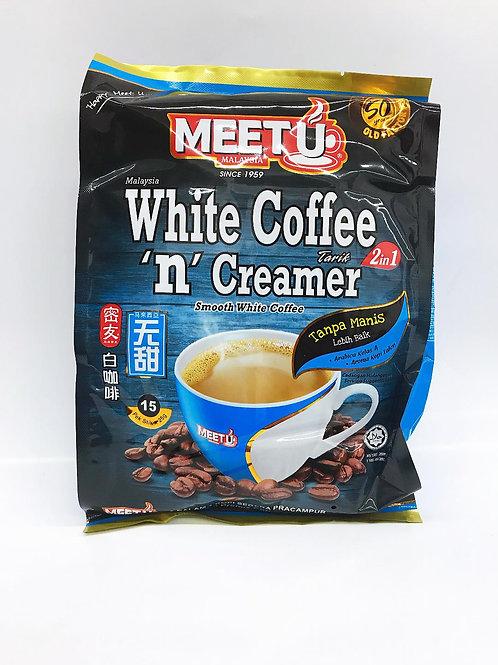MEET U Instant White Coffee 2 in 1 NO SUGAR ( 600g), 6 bags/batch