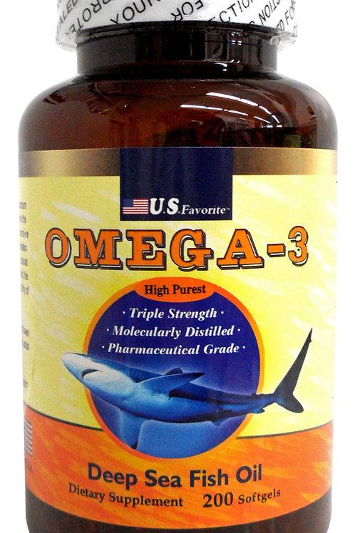 U.S.Favorite Omega - 3 Deep Sea Fish Oil 高濃度深海魚油