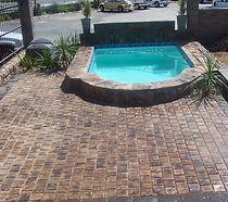 PC Pools swimming pool paving