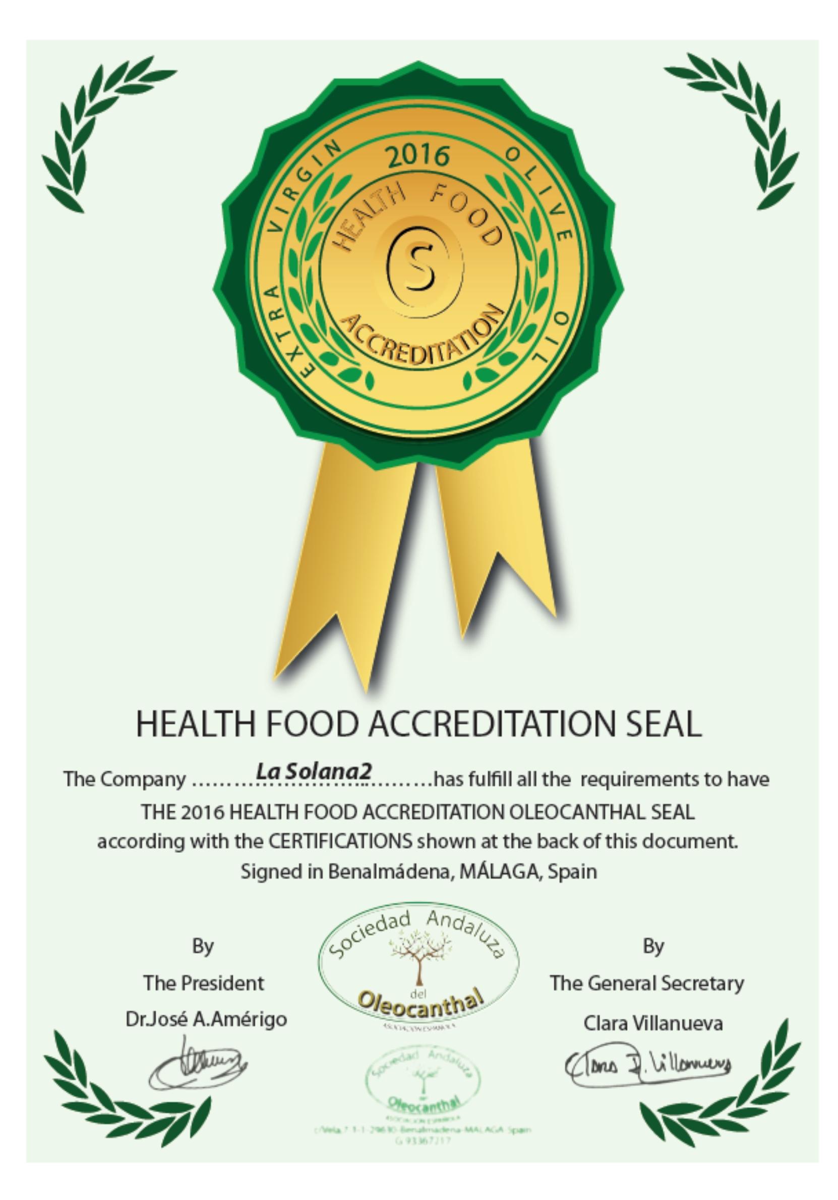 сертифика пользы Lasolana