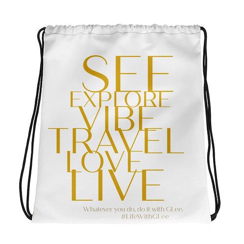 Travel GLeefully Drawstring Bag