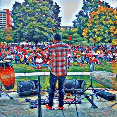 The Winslow Davis Ensemble performing at Arts Huntsville's Concerts in the Park