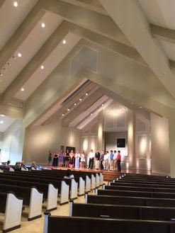Wedding rehearsal in Highlands Chapel in Birmingham