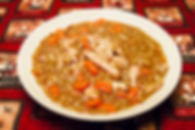 Lentils, chicken thighs, carrots & onions compliment the mushrooms in our Sauce Champignon perfectly.