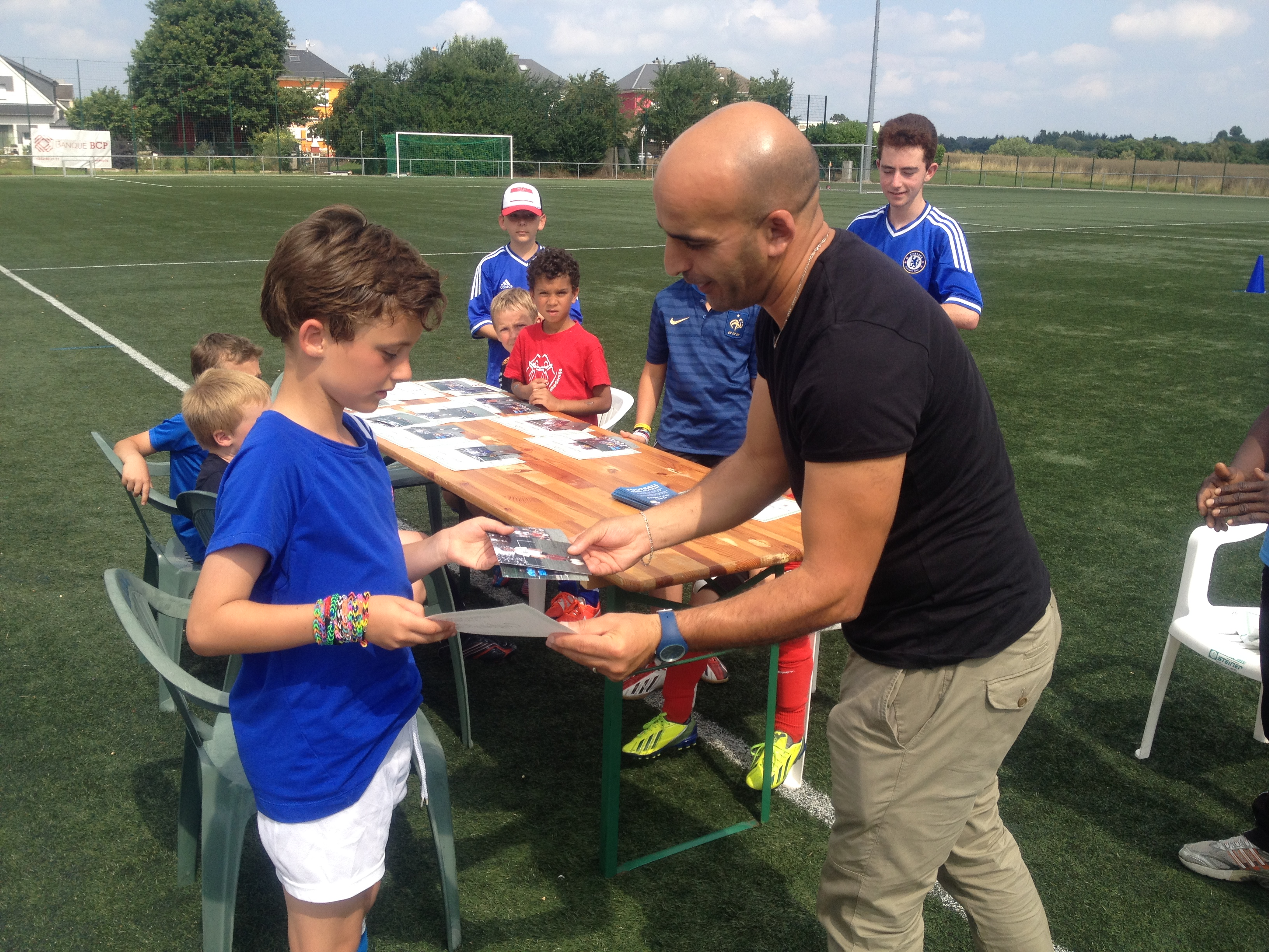 Award of Diploma after a Camp - Football Klinik Academy Luxembourg