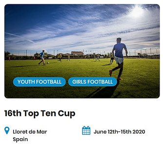 16th Top Ten Cup Football Tournaments 20