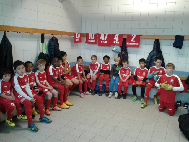 Dressing room before a game