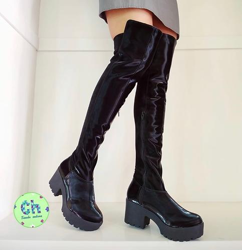 Botas de plataforma hasta la rodilla