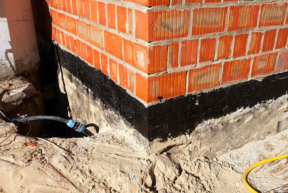 Waterproofing foundation bitumen. Foundation Waterproofing, Damp proofing Coatings.jpg