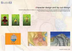 character & lay out