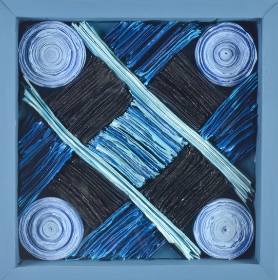 Blue Coiled Lines I